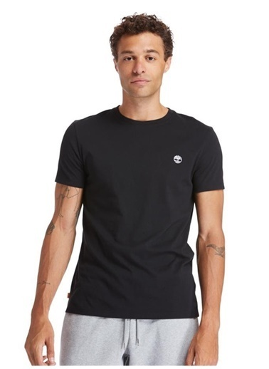 Timberland Timberland Erkek Siyah Bisiklet Yaka T-Shirt Siyah